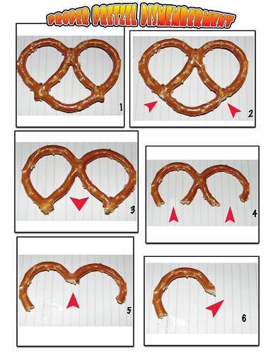 Proper pretzel dismemberment