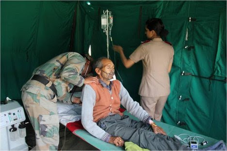 Army has launched one of the biggest human rescue operations in Uttarakhand. It today mobilized troops for rescue and relief efforts, as it simultaneously reached out to over 8000 people on all four different axes, viz, Rishikesh ? Uttarkashi ? Harsil ? Gangotri axis; Rudraprayag ? Kedarnath axis, Joshimath ? Badrinath axis and Dharchhula ? Tawaghat axis in Pithoragarh district