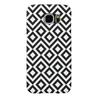 Black and White Meander Samsung Galaxy S6 Cases