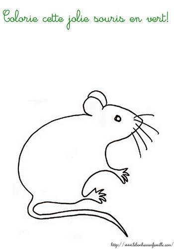 Le bonheur en famille un peu de coloriage pour les - Coloriage petite souris ...