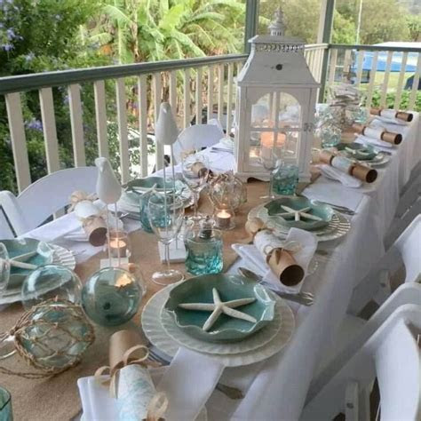 Ocean table setting!   Tables and Centerpieces   Coastal