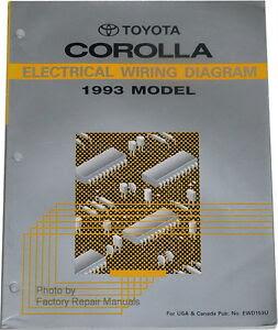 1993 Toyota Corolla Electrical Wiring Diagrams - Original ...