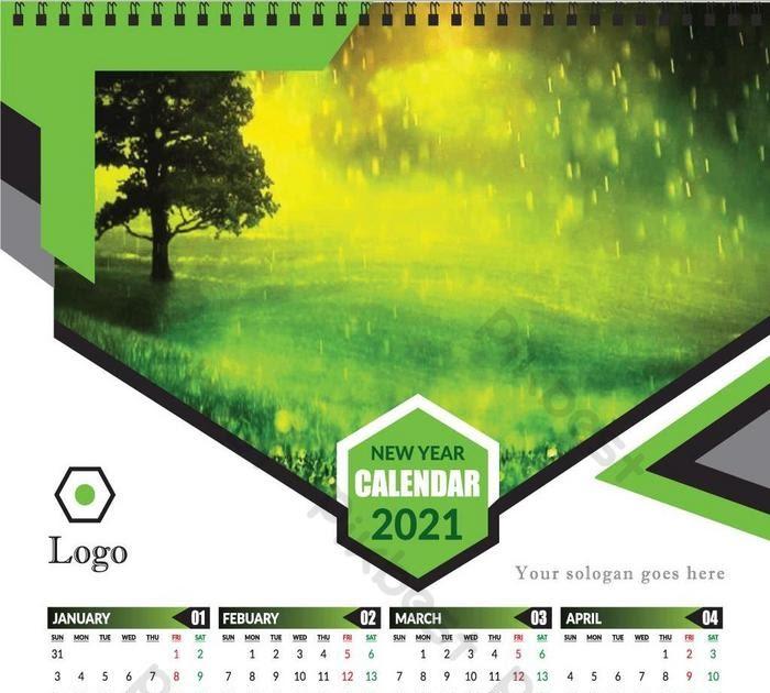 Desain Kalender Hijau - 36 Kalender Dinding 2021 Hijau ...
