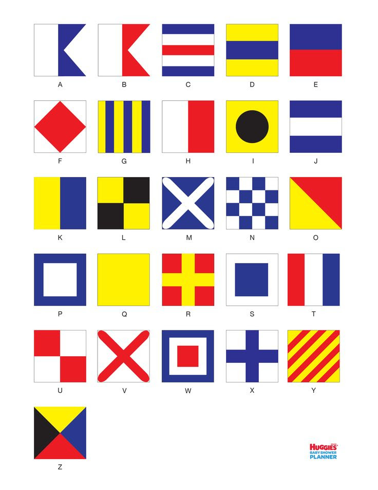 Nautical Flag Activity Printable. Have baby shower guests spell ...