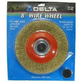Delta 23 096 8 Inch Bench Grinder Wire Wheel Fine Jet