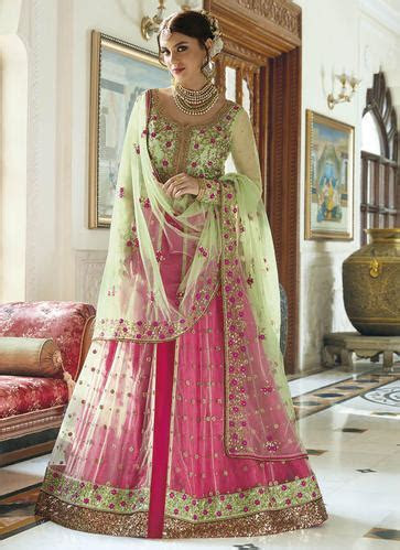 Semi Stitched Georgette Latest Wedding Bridal Lehenga