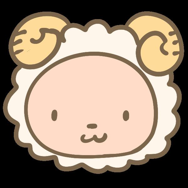 羊の顔のイラスト かわいいフリー素材が無料のイラストレイン