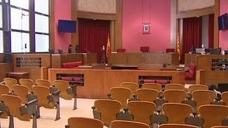 La sala del Tribunal Superior de Justícia on es farà el judici