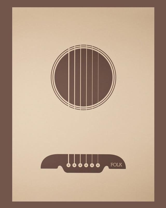 Minimalist Guitar Poster