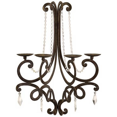 Traditional Harmony Chandelier Wall Sconce Candle Holder - #T9651 ...