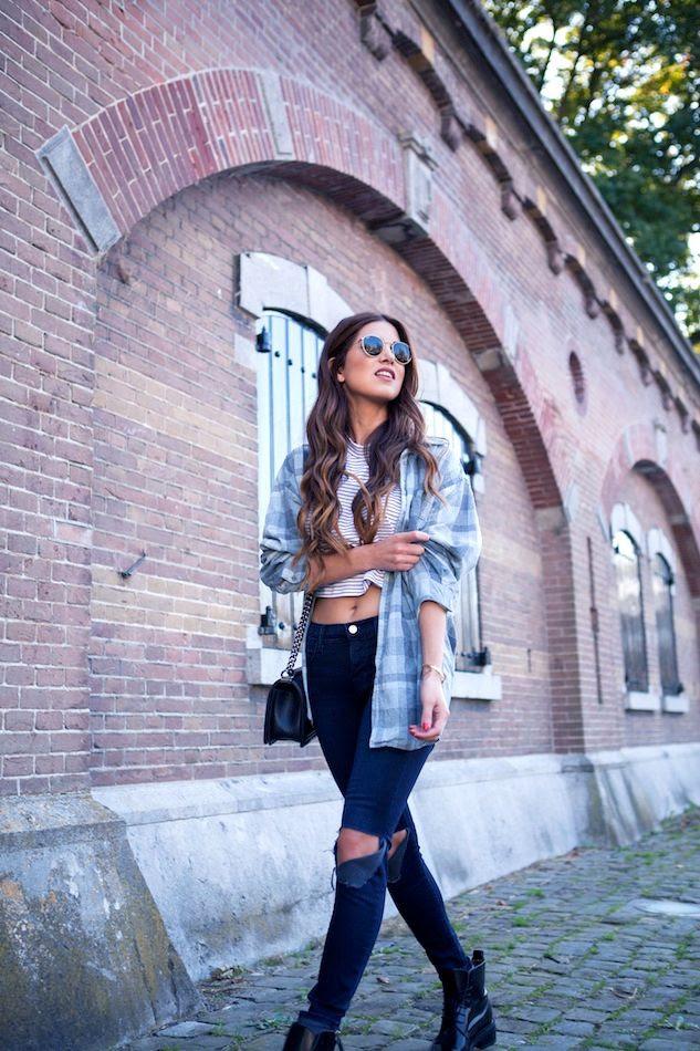 9 Le Fashion Blog Long Hair Inspiration Negin Mirsalehi Brunette Brown Wavy Plaid Shirt Striped Crop Top Ripped Jeans photo 9-Le-Fashion-Blog-Long-Hair-Inspiration-Negin-Mirsalehi-Brunette-Brown-Wavy-Plaid-Shirt-Striped-Crop-Top-Ripped-Jeans.jpg