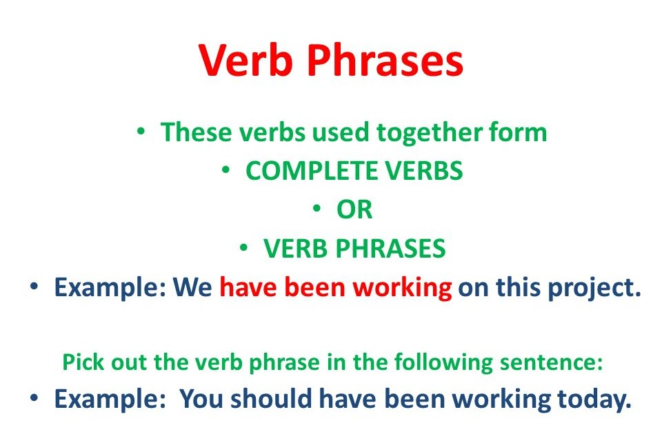 40 info verb phrase sentences pdf doc download