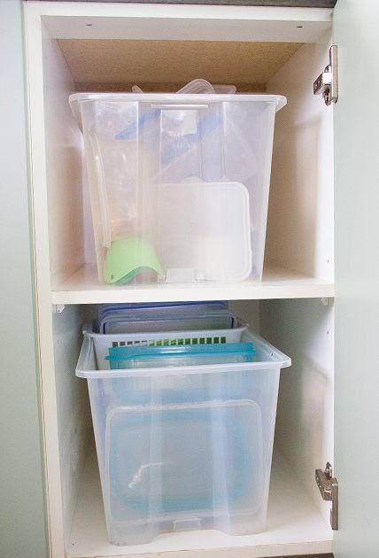 A Thousand Words How I Organise My Plastic Containers