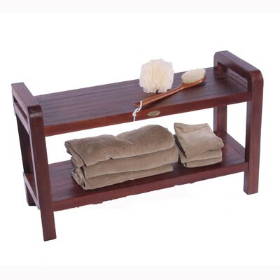 LiftAide Teak Spa Shower Bench