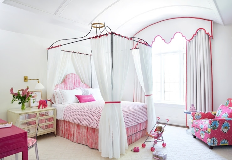 Princess Canopy Bed - Transitional - girl's room - Anne Hepfer Designs