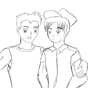 random gay couple  kazumikikuchi  deviantart