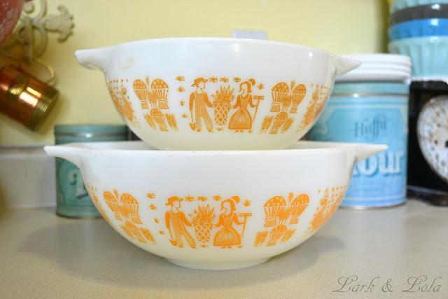 Orange Butterprint 444 & 443