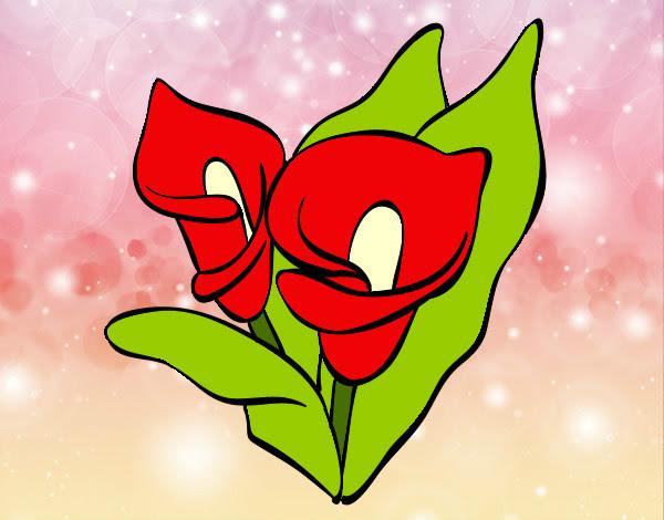 Dibujo De Flores Colores Pintado Por Nishi En Dibujos Net