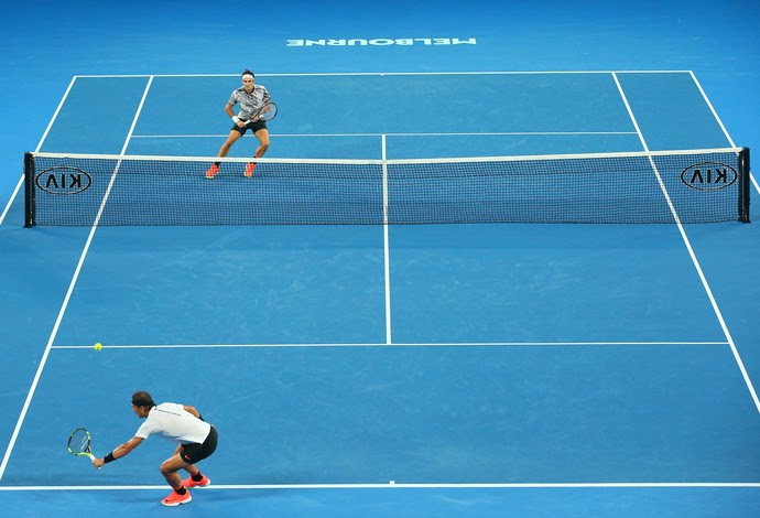 Nadal x Federer, final do Aberto da Austrália (Foto: Scott Barbour / Stringer / Getty Images)