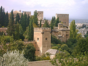 Irving lived at the Alhambra Palace while writ...