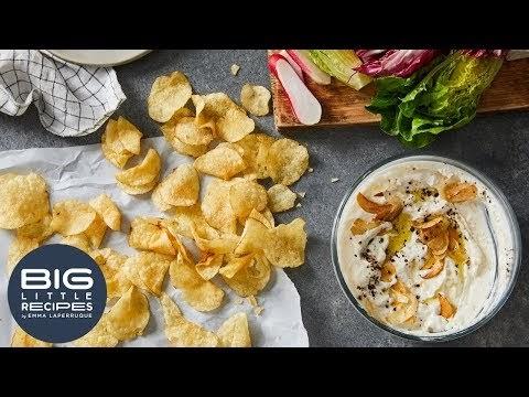 Giant Garlic Cilantro Toasts Recipe