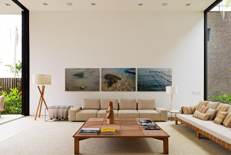 Living Room Condominio Baleia By Arthur Casas