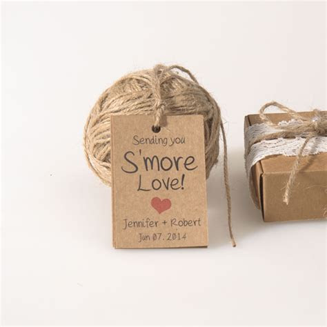 Smore Love kraft bridal shower wedding favor tags EWFR030