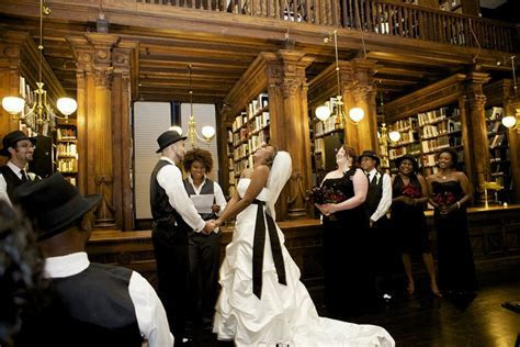 Wedding Ceremony in the Othmer Library of Brooklyn