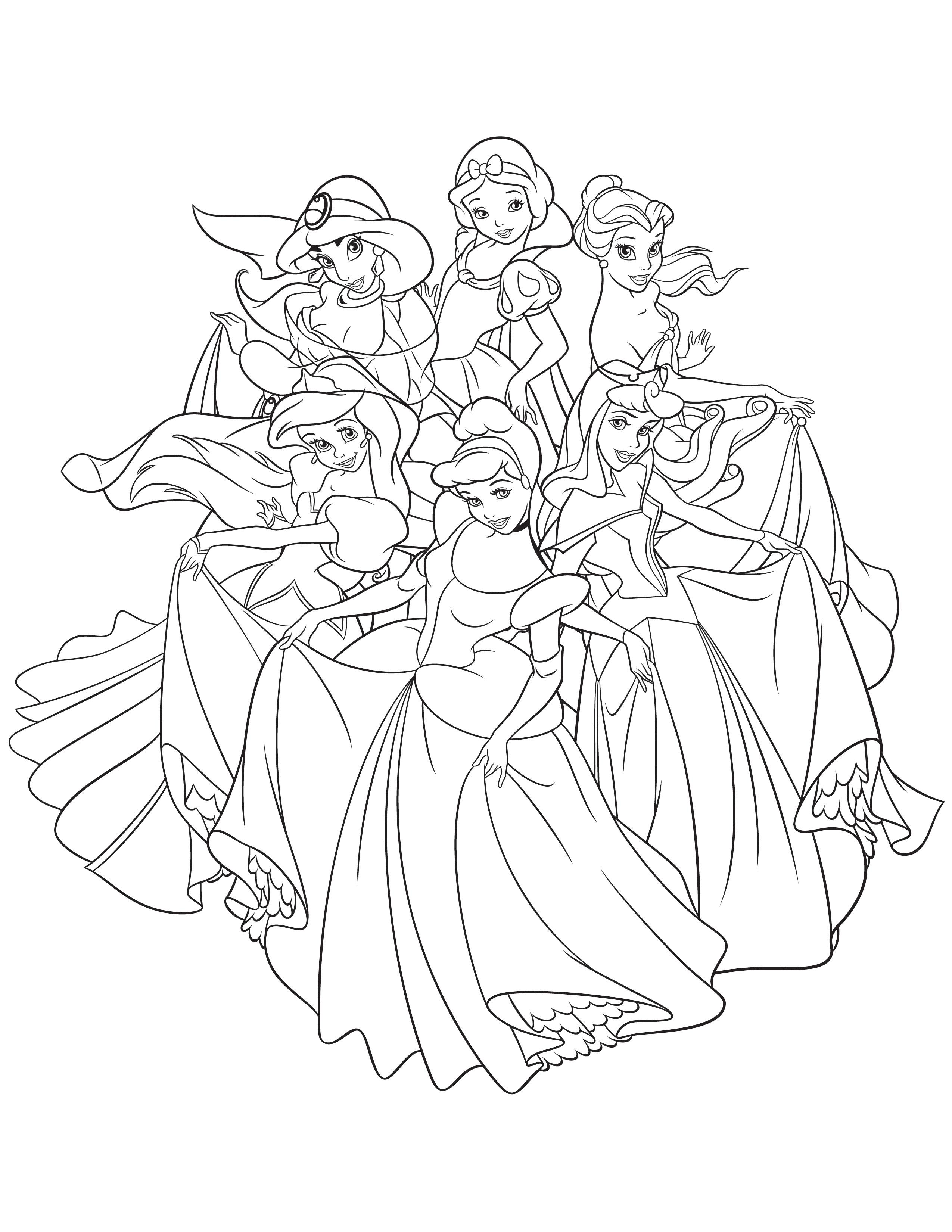 coloriage gratuit de princesse with coloriage gratuit de princesse