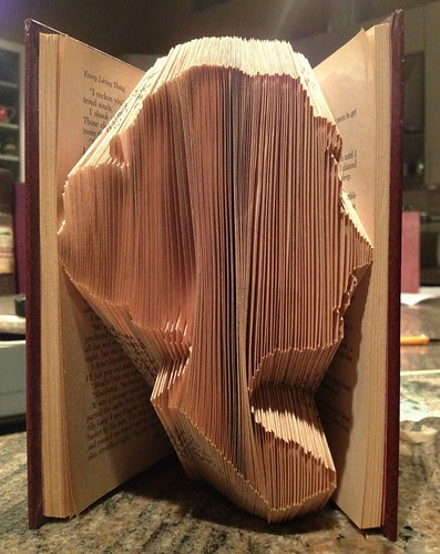 Folded Book Jane Austen Silhouette