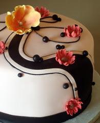Mother's Birthday Cake with chocolate swirls