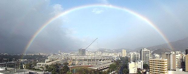 Arco Iris, Maracanã (Foto: Larissa Amorim)