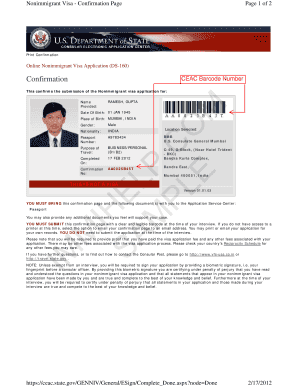 17 Printable Us Visa Application Ds 160 Forms And