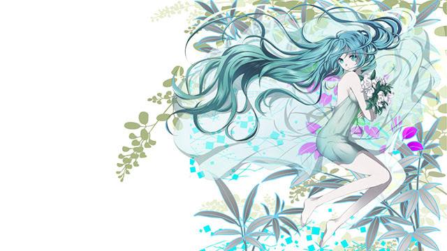 初音ミク花とミクの高画質なイラスト画像ボカロ壁紙