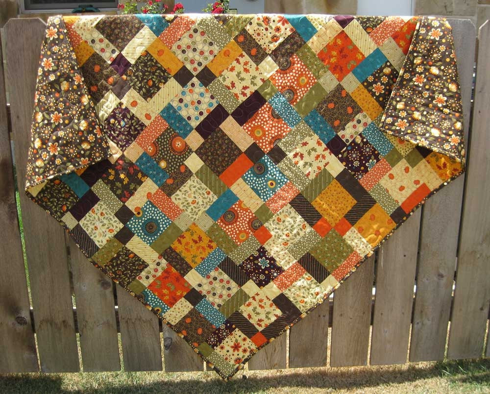 Autumn Fall Quilt Grand Finale Throw MADE TO ORDER