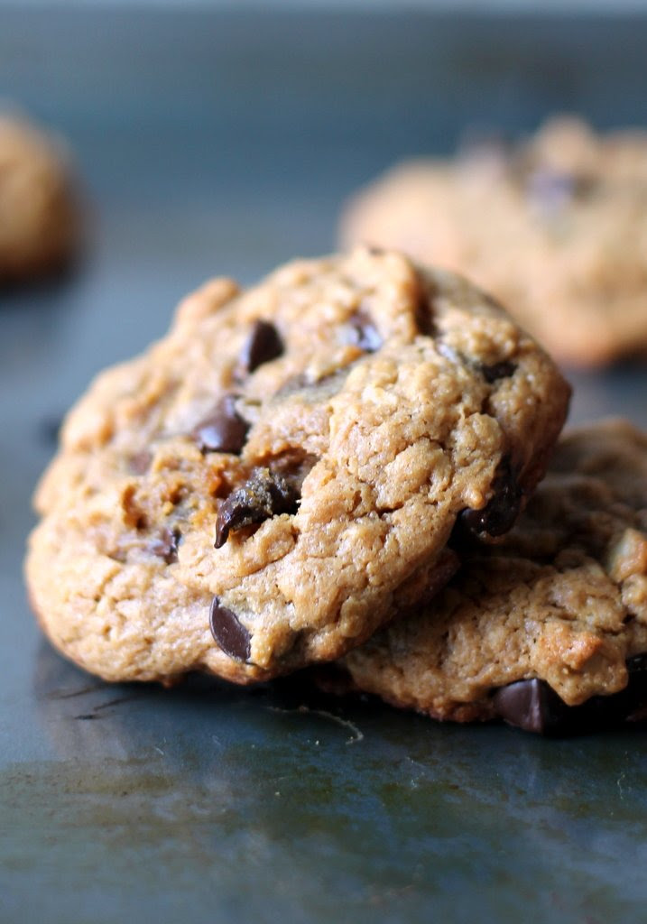 Peanut Butter Oatmeal Chocolate Chip Cookies {flourless ...