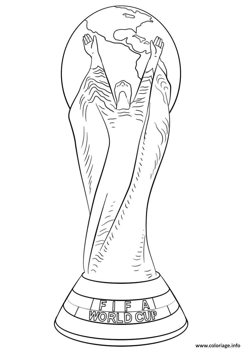 Coloriage Fifa World Cup Football Trophee Coupe Du Monde Officiel