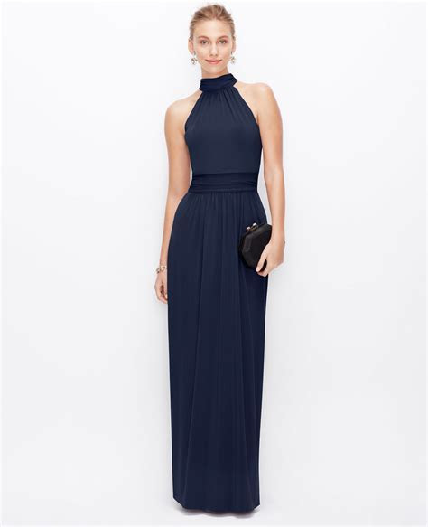 Ann Taylor Satin Jersey Halter Gown   Where to buy & how