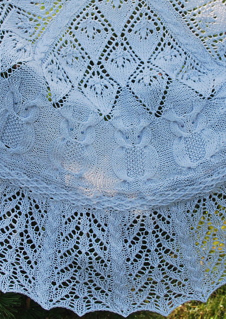 Free Knitting Pattern for Into the Woods Owl Shawl