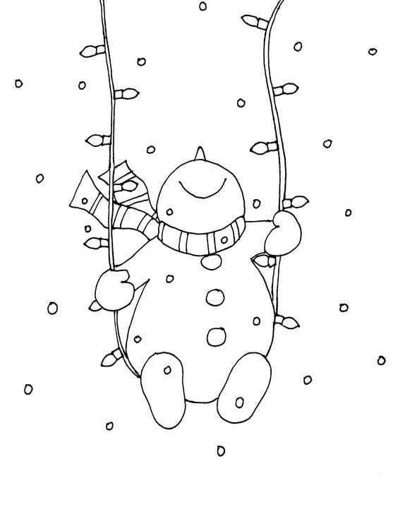 2017 Yılına özel Kış Ve Kardan Adam Boyamaları Okul öncesi