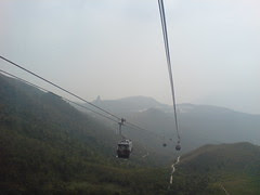 descending to Ngong Ping