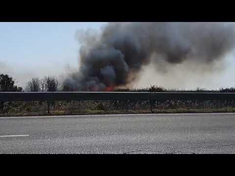 ΒΙΝΤΕΟ-Φωτιά πριν τα διόδια στα Μάλγαρα προσοχή οι οδηγοί πυκνοί καπνοί στην Εγνατία