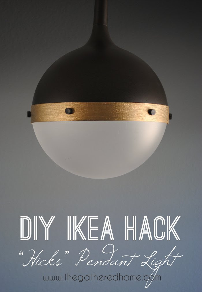 "DIY Ikea Hack ""Hicks"" pendant light 
