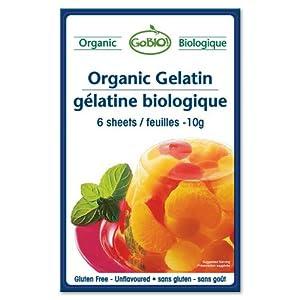 Amazon.com : Go-Bio - Organic Gelatin, 6 sheets : Gelatin ...