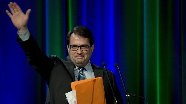 Bernard Drainville lors du débat de Québec pour la course à la direction du PQ