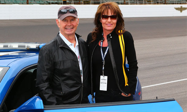 Sarah Palin and Parnelli Jones at IMS