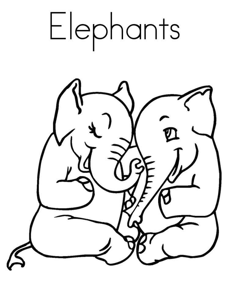 Elephant coloring pages. Download and print elephant ...