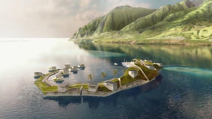 Kota Terapung Pertama Di Dunia Akan Hadir Tahun 2020, Seperti Inilah Kehidupan Di Atas Air