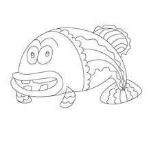 Dibujos Para Colorear Depescado De Abril Con Dientes Eshellokidscom