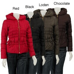 MICHAEL Michael Kors 24-inch Ruched Down Jacket